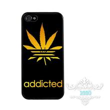 Buy Addicted Leaf Weed Printed Phone Case Cover iphone 4 5s 5c SE 6 6s 6plus 6splus Samsung galaxy s3 s4 s5 s6 s7 edge for $2.37 in AliExpress store