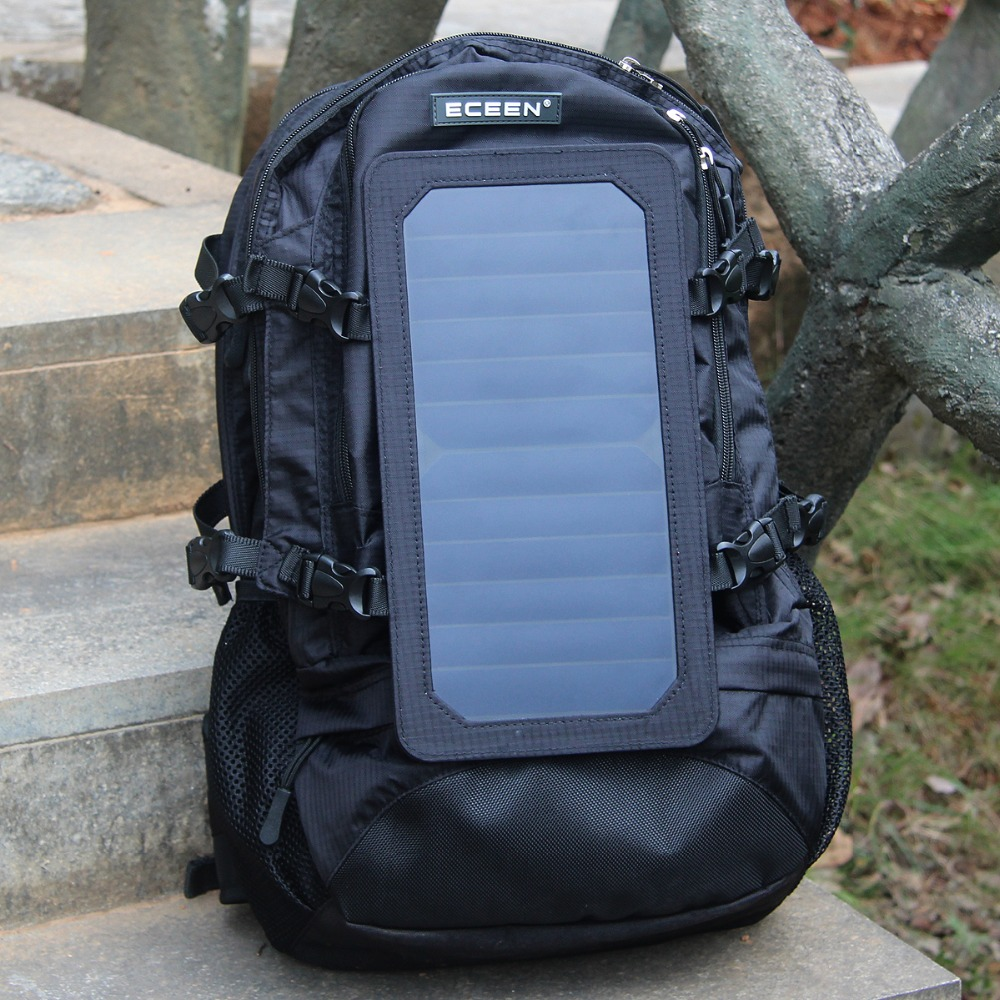 ECEEN Outdoor Sports Bag Travel Camping Backpacking Hiking Daypack 7Watts Solar Charger for Cell Phone 5V USB-charging Devices(China (Mainland))