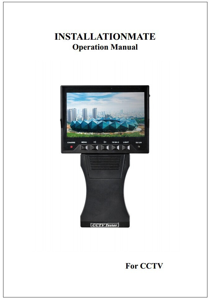 Security Video Audio Monitor Tester 4.3 Inch Color TFT LCD DC 12V w/ OSD Menu(China (Mainland))