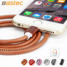 2016 Original 20cm / 100cm Super Strong Leather Metal Plug Micro USB Cable for iPhone 6 6s Plus 5s 5 iPadmini / Samsung(China (Mainland))