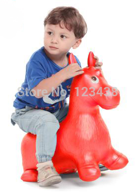 Extra Thickness Large Rocking Jumping Horse Child Inflatable Rubber Horse Ride Baby Fitness Sports Equipment Toy Size 60*52*28cm(China (Mainland))