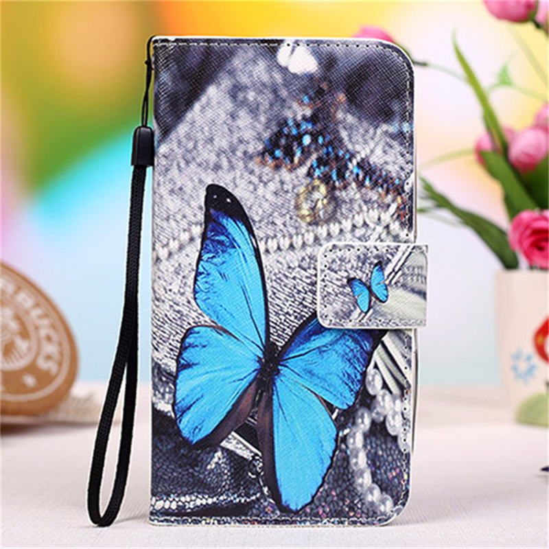 Fashion Colorful PU Leather Flip Case for Philips S309 Eiffel Tower Butterfly Kitty Girls Wallet Phone Cover Strap(China (Mainland))
