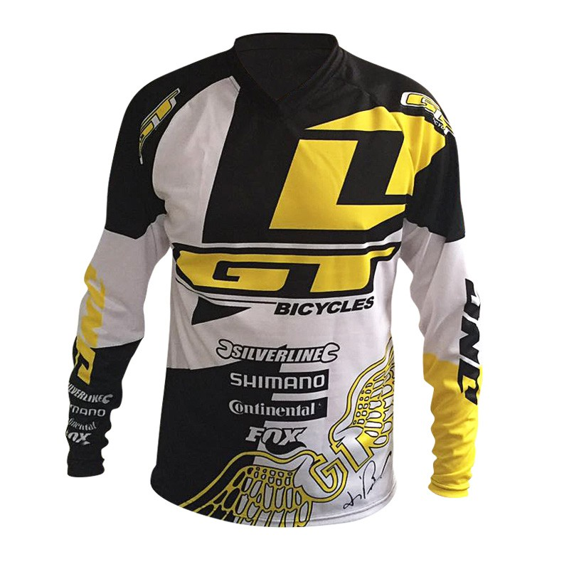 2016 new downhill mountain bike riding gear GT racing under cross-country T-shirt quick-drying breathable soft tail suit(China (Mainland))