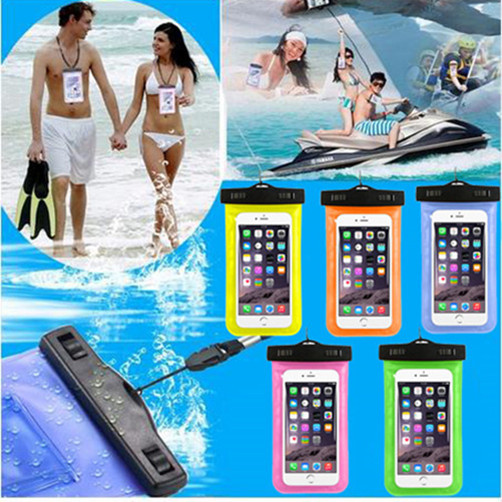 1PCS Clear Waterproof Pouch Dry Case Cover For 5.5 inch Phone Camera Mobile Phone Waterproof Bags For Lenovo K3 Note K80 K900