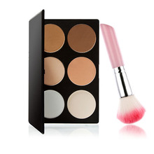 Buy New Arrival 6 Color Makeup Cosmetic Brush Brusher Contour Makeup Concealer Power Palette Powder Cake + Cosmetic Brush FE#8 for $12.28 in AliExpress store
