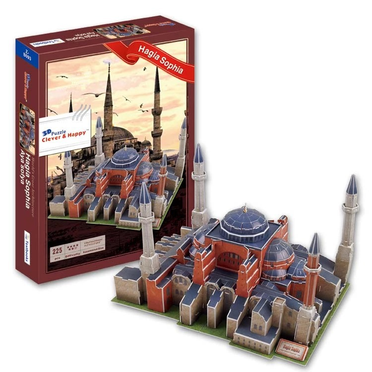 Top World famous buildings Jigsaw Model 3D Puzzle Turkey Hagia Sophia DIY Xmas Gift Toys childrens day Learning Education - Fashion Shop 7 store