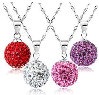 brand necklace10mm imitation diamond Micro Disco Ball Crystal Necklace B0226(China (Mainland))