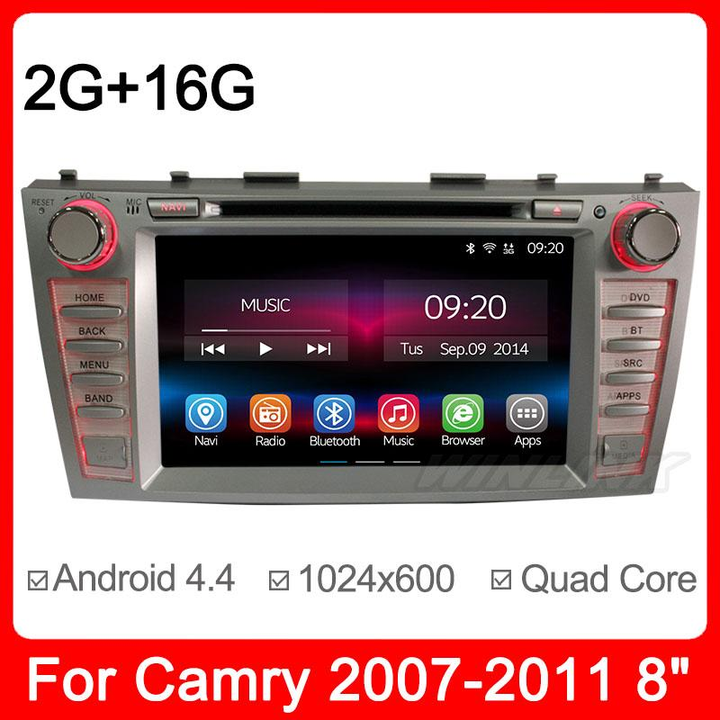 Newest 2G/16G Quad Core android 4.2.2 Car GPS Navigation CD DVD Player for Toyota Camry 2007-2011 with RDS Built in wilf(China (Mainland))