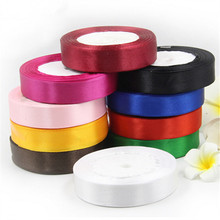 25mm 25 Yard Silk Satin Ribbon 22M Wedding Party Decoration webbing Invitation Card Gift Wrapping Scrapbooking Webbing Riband(China (Mainland))
