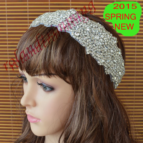 free shipping 2015 new rhinestone crystal bridal tiara crown headband ra345(China (Mainland))