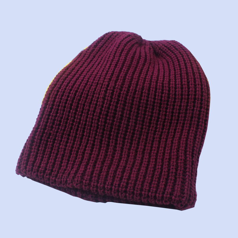New Winter Beanies Knitted Hat Men Plain Warm Popular Beige White Caps Soft Beanie Skullies Knit Cap Acrylic Hats 6 Colors M006(China (Mainland))