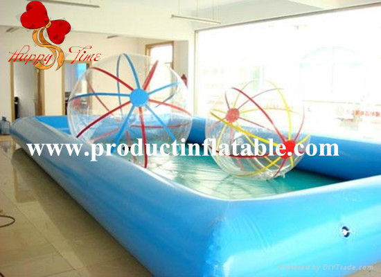 inflatable pool with water balls,inflatable water walking ball(China (Mainland))