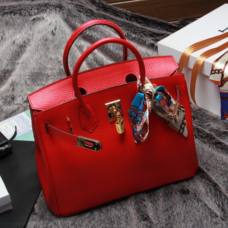 High Quality Women Handbag Genuine Leather H Real Bag Fashion Lady Tote Famous Purse Brands Designers 30/35 Red Purses Pink Bags(China (Mainland))