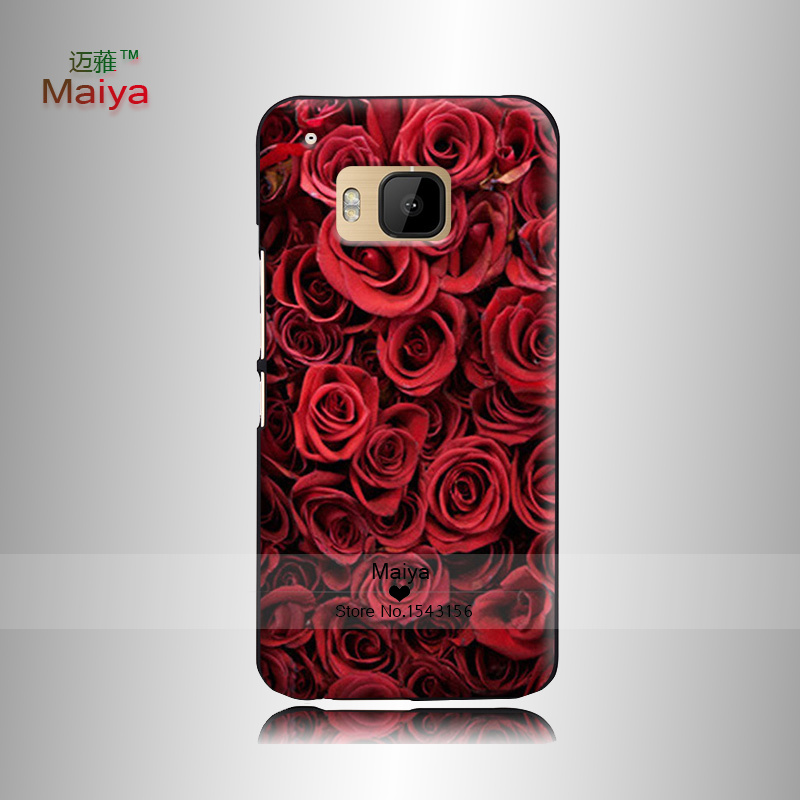 Flower Market 3 Transparent Hard Print Hard Back Shell Skin OEM For Htc one M7 m8 m9 plus X9(China (Mainland))