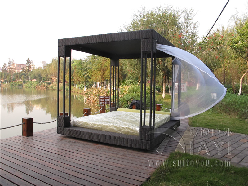 Canopy Outdoor Bed Romantic Outdoor Canopy Beds 02 Youtube For