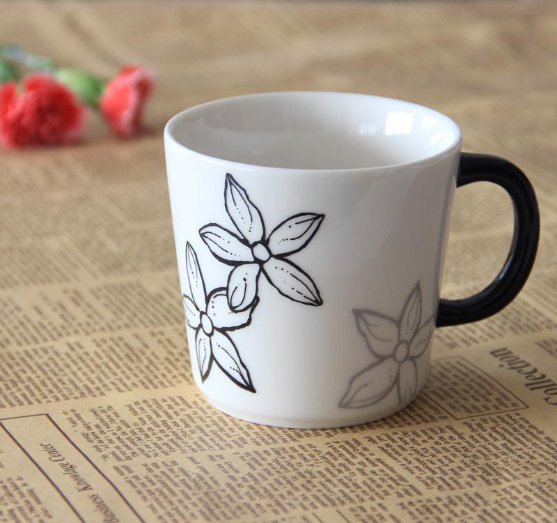 Creative printing fashion boutique coffee mug ceramic coffee cup travel mug valentine gift wedding gift(China (Mainland))