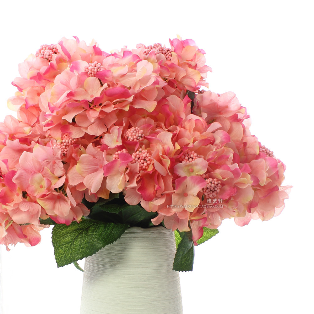 Free shipping 6 fork flower heads per pcs large for Artificial flowers decoration for home