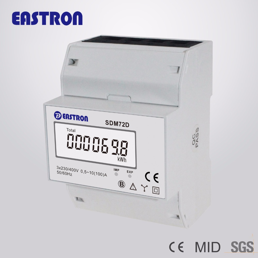 SDM72D, 220/230V 10(100)A, 3 Phase 4 Wire Din Rail Energy Meter,measuring kwh, CE approved(China (Mainland))