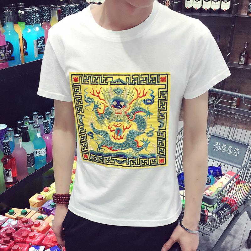 Men Short Sleeve Print Dragon Hip Hop T-Shirt Pokemon Usa Hockey Soccer Camiseta Juventus France Euro Jersey 2016 2017 T Shirt(China (Mainland))