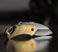 Golden Small Folding Knife Pocket Knife 5CR17MOV Steel Hight quality Survival Knife EDC Tools 832
