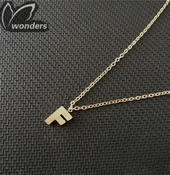 New fashion simple Initial F pendant letters necklace 2015 Trendy  jewelry <br><br>Aliexpress