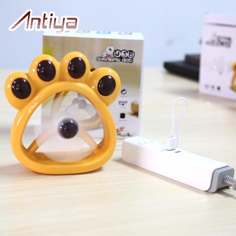 Cute Air Fans : Antiya feet cartoon cute portable fan usb air