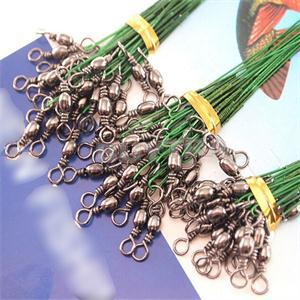 Hot Sale Stainless Steel Coated Fishing Trace Lure Wire Spinner Leader Hooks Swivel Interlock Snaps 72 pcs(China (Mainland))