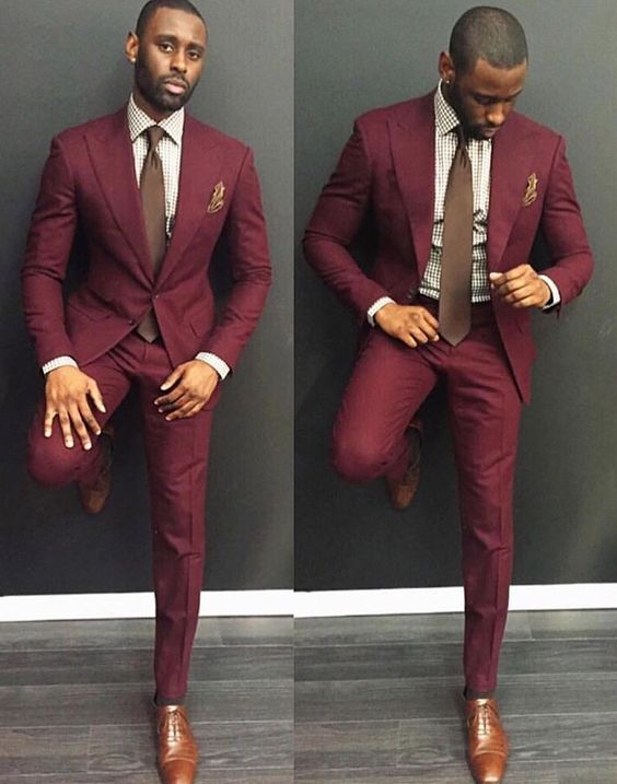 Compare Prices on Mens Burgundy and Gray Suit- Online Shopping/Buy