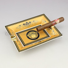 Cigarette Ashtray Ve ** ace ceramic cigar ashtray Noble craft exhibits YV-002B holds 2 yellow - Cigar Smoking Accessories store