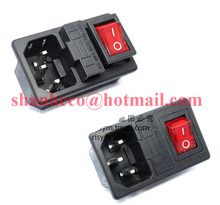 Red Light Power Rocker Switch Fused IEC 320 C14 Inlet Power Socket Fuse Switch Connector Plug 10A 250V(China (Mainland))