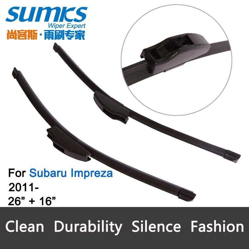 "Car Wiper blades for Subaru Impreza (2011 onwards), 24""+21"", rubber, front windscreen, Car accessory, freeshipping(China (Mainland))"