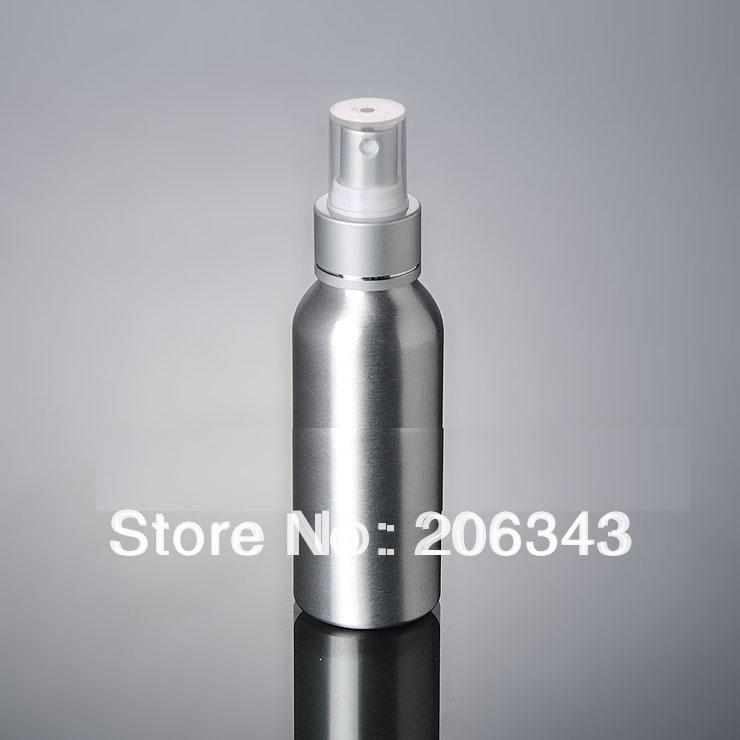 100pcs 100ml Aluminium bottle pump sprayer bottle black pump spray head Aluminum metal bottle spray bottle mist sprayer