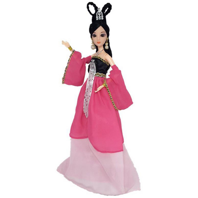 NEW 3D eye girl Barbie doll princess costume Ancient fairy doll with costume 3#