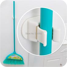 Mop broom hooks Seamless creative door hanger strong broom stick wall hook(China (Mainland))