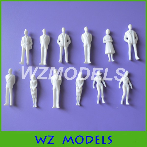 architecture model maker  miniature white figures 1;50 Architectural model human scale HO model ABS plastic people