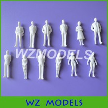 architecture model maker  miniature white figures 1;50 Architectural model human scale HO model ABS plastic people(China (Mainland))