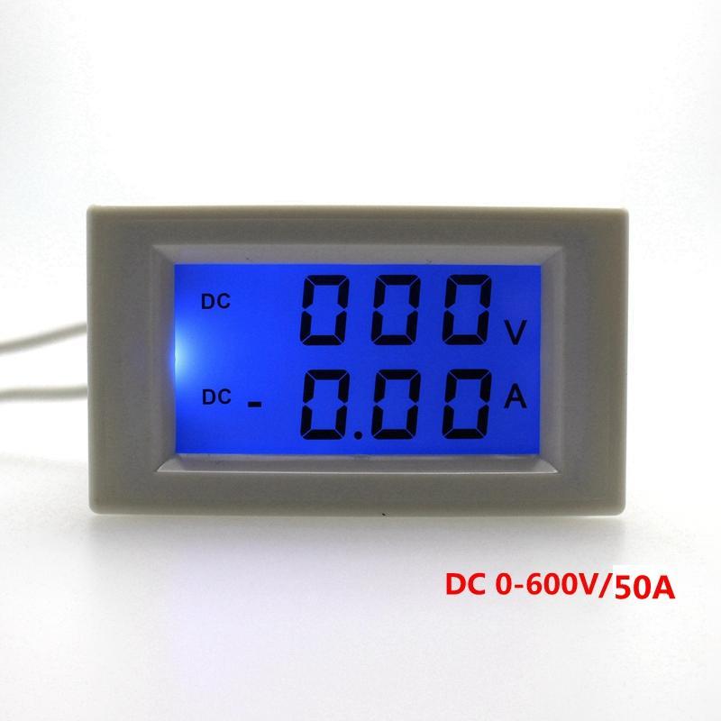 Digital dual display DC Ammeter Voltmeter Power supply DC 3-40V With Blue Backlight DC 0-600V/50.0A Vol Amp Tester meter(China (Mainland))