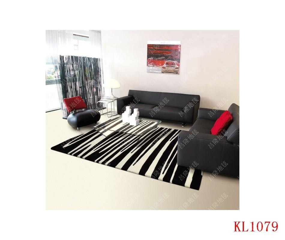 Black And White Striped Round Coffee Table: Modern Brief Coffee Table Black And White Stripe Of Pure