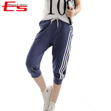 2XL Summer 2016 Women Casual Sports Pants Running Casual Loose Harem Pants Femme Skinny Sport Pants Seven Short Capris Trousers (China (Mainland))