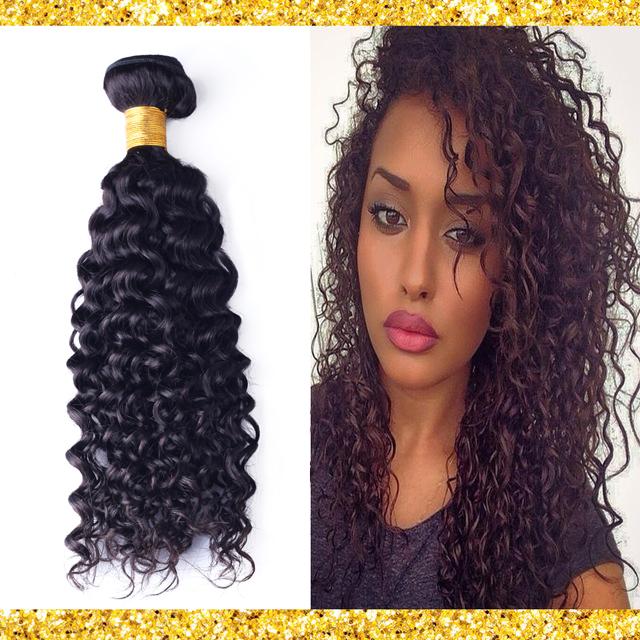 Гаджет  Brazilian Curly Virgin Hair Afro Kinky Curly 3pcs 100% Unprocessed Remy Hair Bundles #1B Natural Black Rosa Hair Products C-101 None Волосы и аксессуары