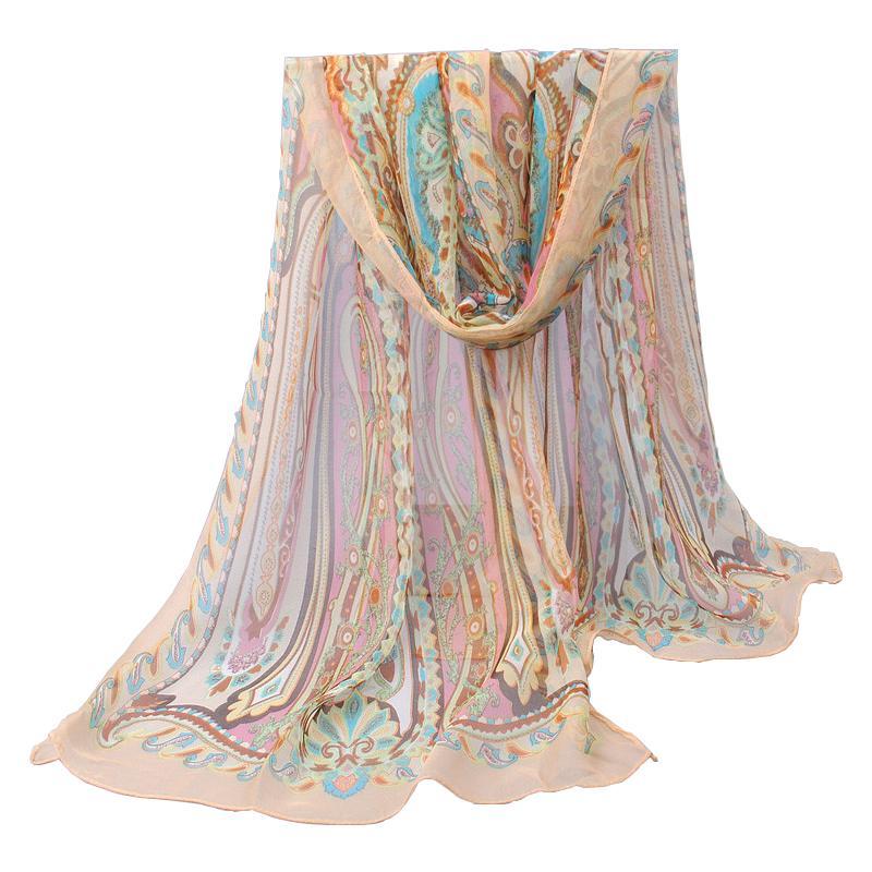Гаджет  new 2014 spring and autumn women scarves silk feeling chiffon georgette long scarf shawl Bohemia scarf wraps (min order $5.0) None Одежда и аксессуары
