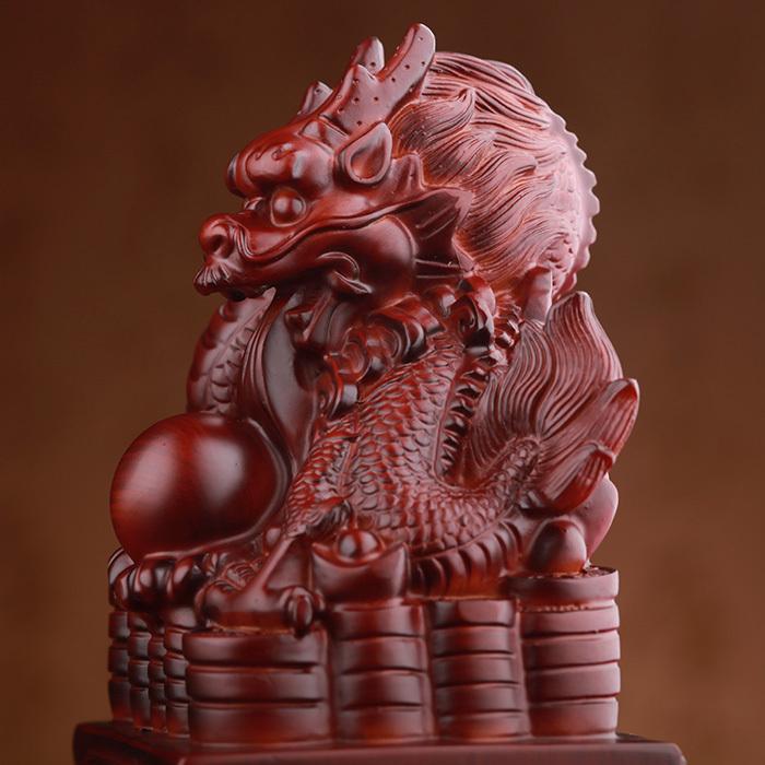 Искусство площадь свадебная церемония знаки дракон подарки на день рождения подарочные украшения смолы ремесла мебель открытие фэн-шуй