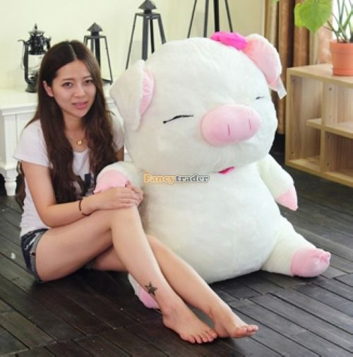 Fancytrader 2015 New High Quality Mcdull Pig Toy 43'' 110cm Giant Huge Plush Stuffed Mcdull Pig Kids Gift, Free Shipping FT90494(China (Mainland))