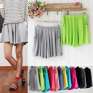 short feminino 2015 Summer candy color skirt shorts casual modal expansion bottom plus size lady safety pants - Style Of Your Life store