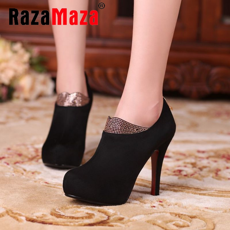 size 33-40 women red bottom high heel ankle boots autumn winter warm sexy ladies boot brand quality heels footwear shoes P21409<br><br>Aliexpress