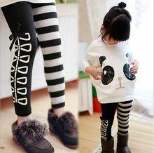 Girls 2Pcs Outfits Panda Long Sleeve Tops+Striped Pants Kids Baby Clothing Sets(China (Mainland))