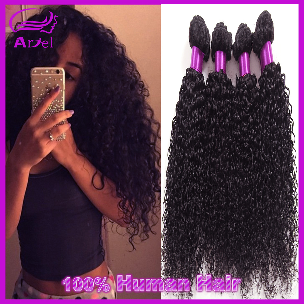 7A Unprocessed Virgin Hair Peruvian Curly Hair 4Bundles Wet And Wavy Deep Curly Hair Kinky Curly Weaving Hair Hj Weave Beauty(China (Mainland))