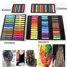 6 Hair Chalk Easy Temporary Colors Hair Chalk Dye Soft Hair Pastels Kit Hair Beauty Care 1EC2(China (Mainland))