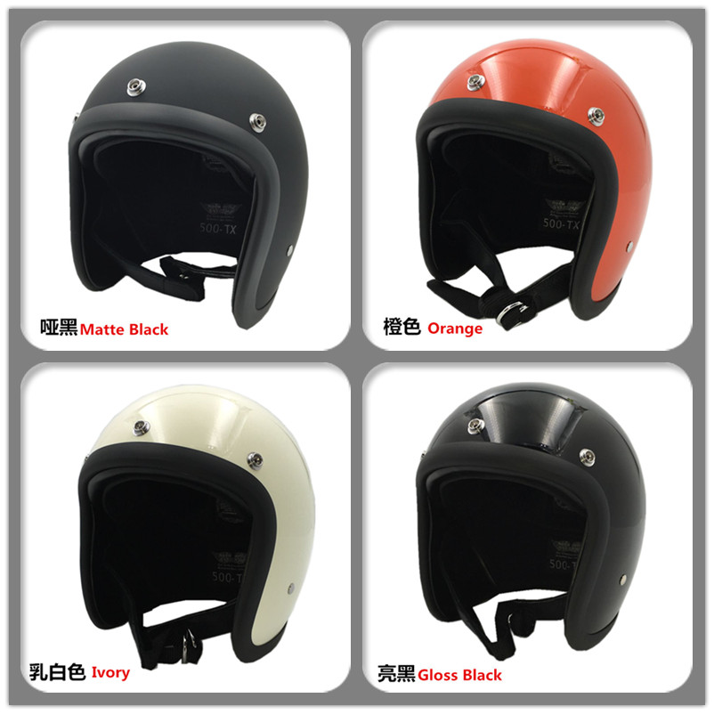 TT&Company 500-TX Open Face vintage Motorcycle Helmet Chopper Bobber CafeRacer SUPER MAGNUM Retro Scooter Jet helmets M L XL XXL(China (Mainland))