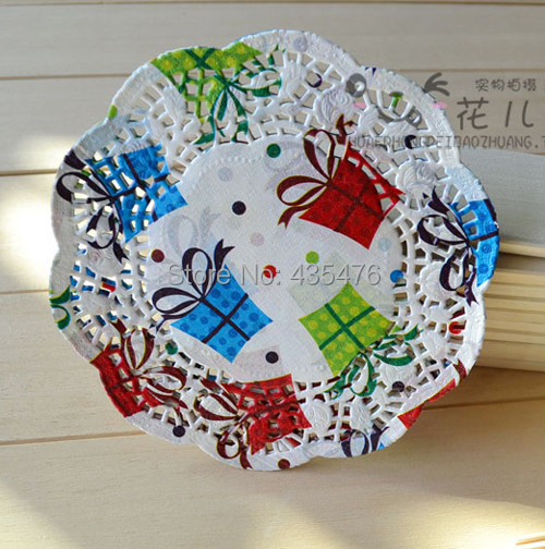 """250pcs 6.5""""=16.5cm Gift Box Round Hollow Paper Lace Doilies Placemat Craft Cake Doyleys Birthday Party Tableware Decoration(China (Mainland))"""